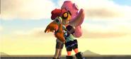 Meggy hugging Desti