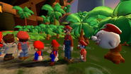 A line full of Marios