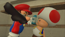 Mario Goes to the Fridge to Get a Glass Of Milk 041