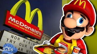 SMG4 Mario Works at Mcdonalds