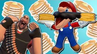 Mario makes pancakes