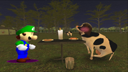 Mario Goes to the Fridge to Get a Glass Of Milk 242