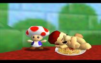 Mario sleep in spaghetti naked