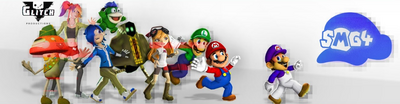 SMG4 Glitched Banner