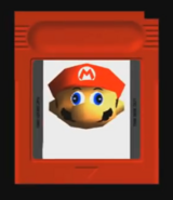 GameBoy cartridge Mario