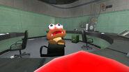 Mario slaps Goomba