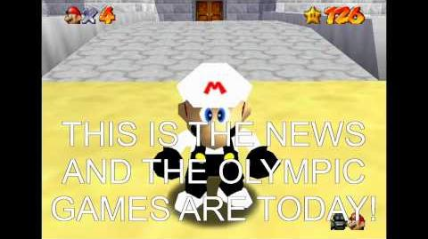 Super mario 64 bloopers mario at the olympic games