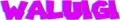 Waluigi (glitch logo)