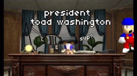 Super Mario 64 Bloopers President Toad Washington
