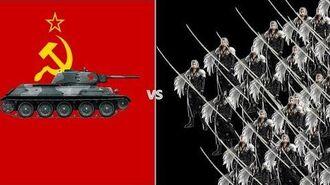 T-34 Soviet Tank vs 100 Sephiroth's