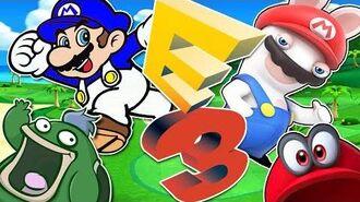 SMG4 AT E3 2017 - NEW MARIO RABBIDS, MARIO ODYSSEY AND SEEING MIYAMOTO!! Glitch Productions