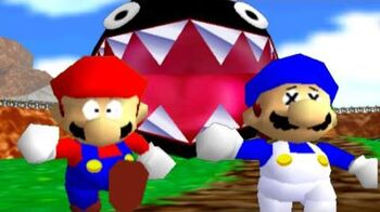 Super mario 64 bloopers Who let the chomp out?