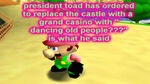 "President Toad has ordered to replace the castle with a grand casino with ""dancing old people???"" is what he said"