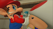 Mario Goes to the Fridge to Get a Glass Of Milk 042