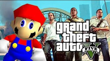 Grand Theft Mario - If Mario was in..