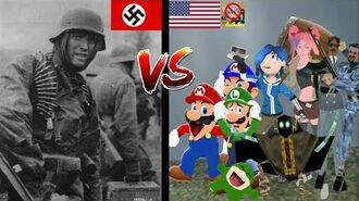 Heinrich Severloh vs Mario SMG4 Luigi Boopkins Tari Saiko Bob Chris and Swagmaster