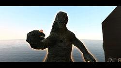 Cannon failed to shot Godzilla