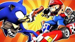 Mario VS Sonic PRANK BATTLE