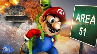 SMG4 Mario Raids Area 51