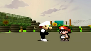 Baby Mario and a Guy