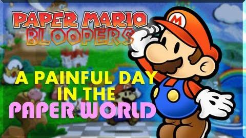 Paper mario blooper a painful day in the paper world