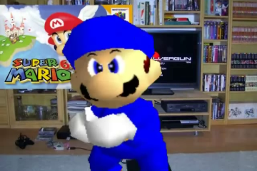 Game Reviewer reviewing Super Mario 64