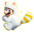 Mario Tanooki Bianco - Super Mario 3D World