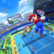 Match Artwork - Mario Tennis Ultra Smash