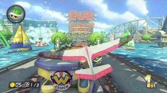 Mario Kart 8 Gameplay - Mirror Mushroom Cup - Water Park - 150cc