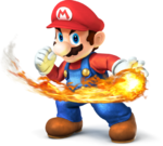 Mario With Fire SSB4