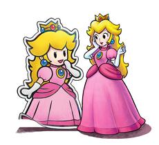Principessa Peach e Paper Peach - M&L Paper Jam Bros.