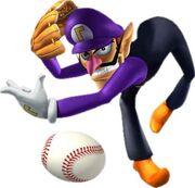 Waluigi Artwork - Mario Superstar Baseball