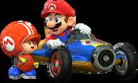 Mario e Toad Mario Kart 8