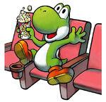 Yoshi che vede un film
