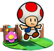 Toad Artwork - Paper Mario Color Splash