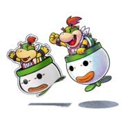 Bowser Junior e Paper Bowser Jr. - M&L Paper Jam Bros.