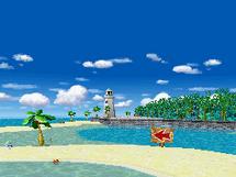 Spiaggia Smack - Screenshot MKDS