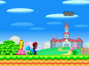 Mario e Peach Intro Screenshot - New Super Mario Bros.