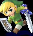 Link Cartone Artwork - Super Smash Bros. per Nintendo 3DS e Wii U