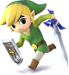 Link Cartone Artwork - Super Smash Bros. per Nintendo 3DS e Wii U
