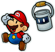 Mario e Tinto (2) Artwork - Paper Mario Color Splash