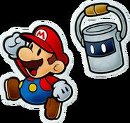 Mario e Tinto (2) Artwork - Paper Mario Color Splash