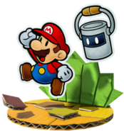 Mario e Tinto Artwork - Paper Mario Color Splash