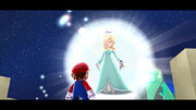 Mario, Rosalinda Screenshot - Super Mario Galaxy