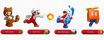 Mario 3d land potenziamenti