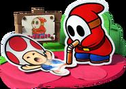 Toad e Slurp Guy Artwork - Paper Mario Color Splash