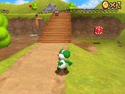Glitch Yoshi con un oggetto invisibile in mano