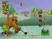 Isola Yoshi Screenshot - Mario Golf 64