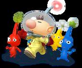Olimar e Pikmin Artwork - Super Smash Bros. per Nintendo 3DS e Wii U