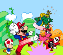 Mario contro truppa Wart